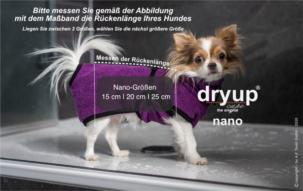 dryup cape nano größenfindung 2