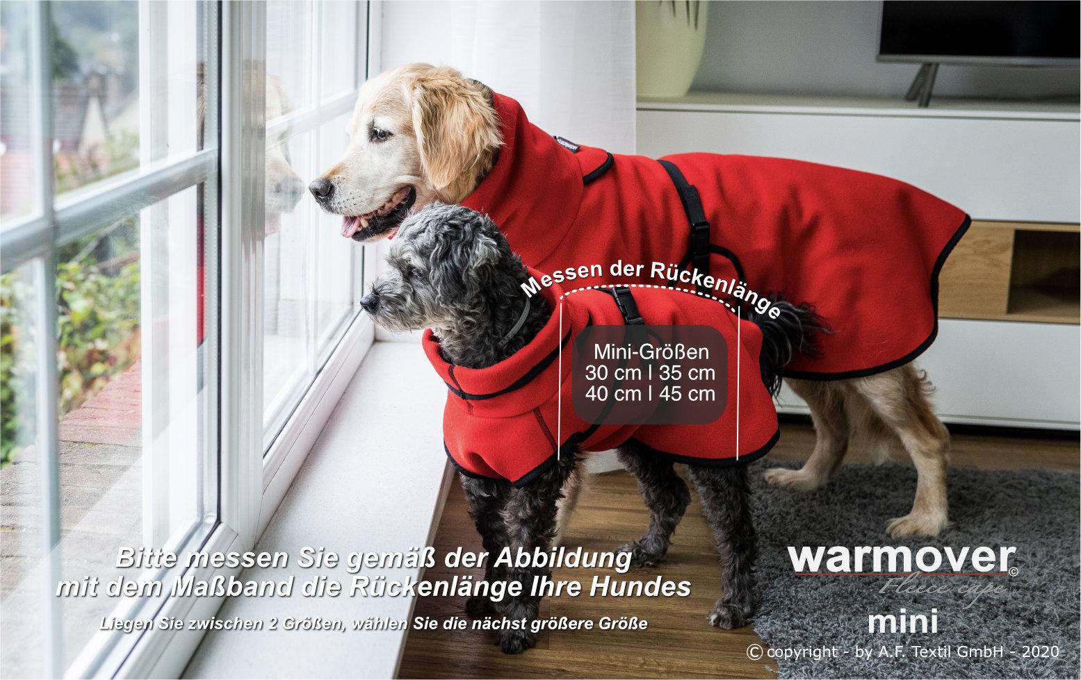 warmover cape mini groessenfindung deutsch