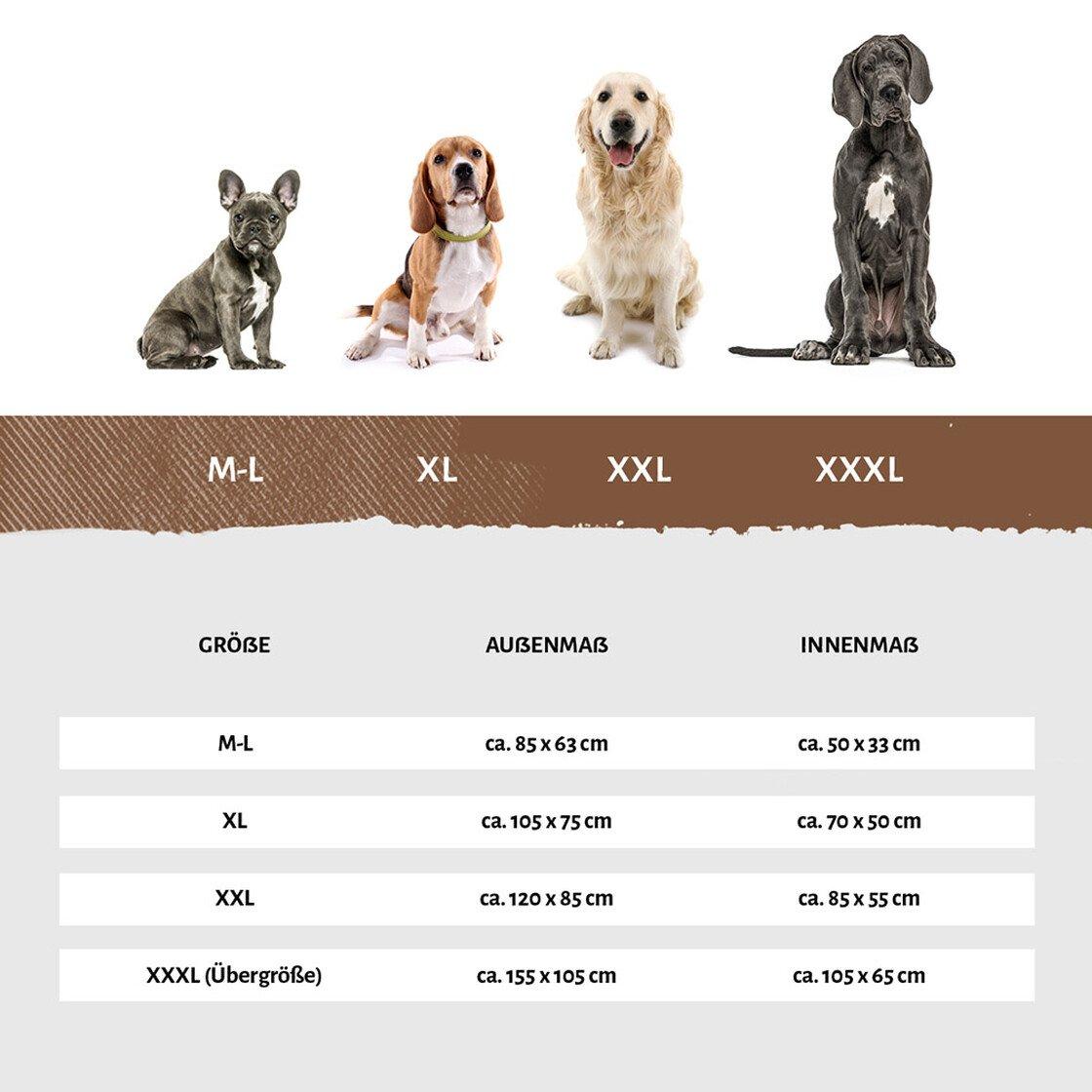 knuffelwuff orthopaedisches hundebett madison aus laser gestepptem kunstleder 4