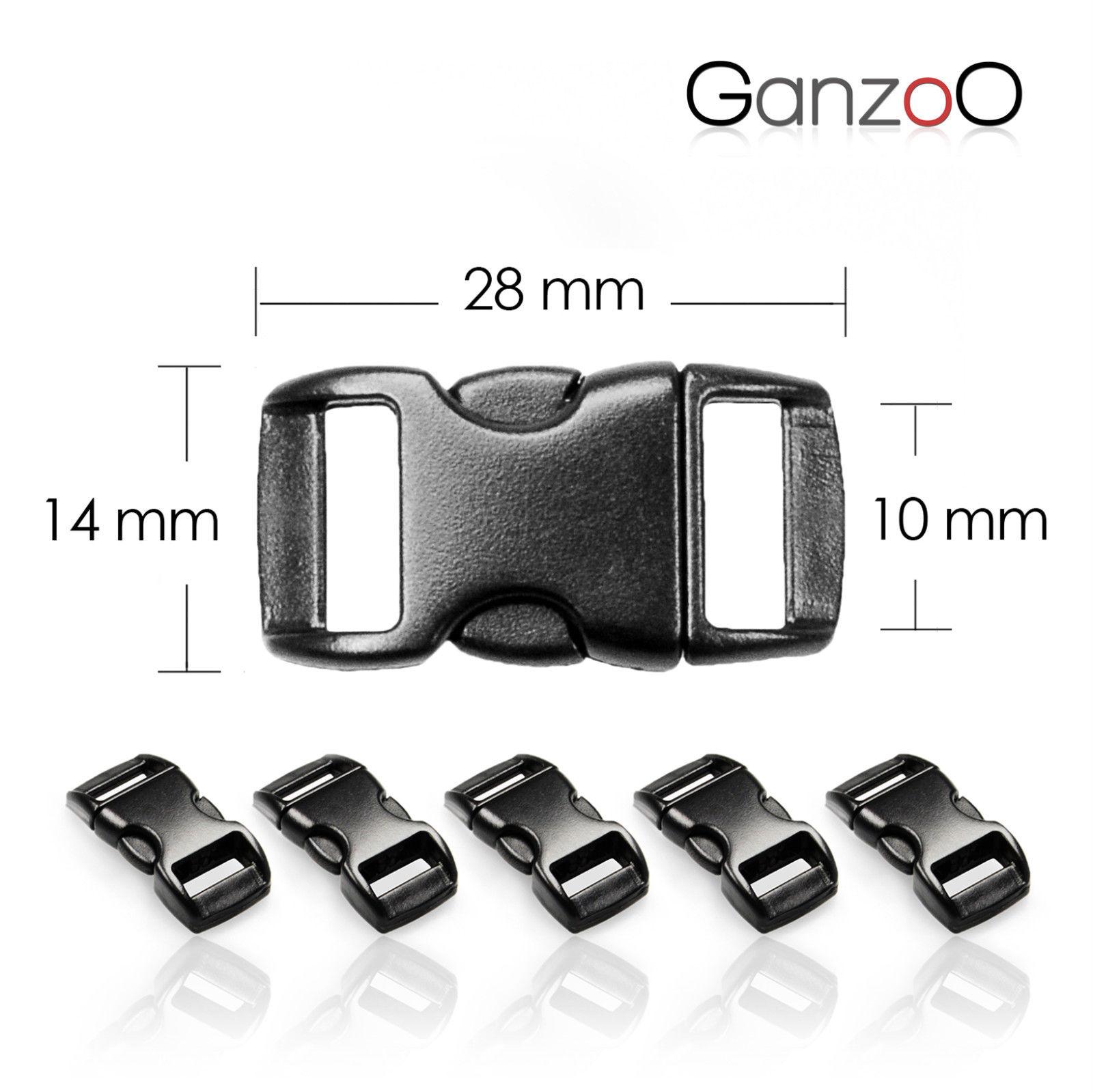Ganzoo Paracord Starterset Armbnder 4 Sets mit 5 Verschlsse Maband Anleitung 253173909639 8
